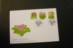 Republic Of China 3228-30 Indoor Potted Plants Flora Flowers Complete Set With Day Of Issue Cancel 1999 A04s - 1945-... Republic Of China