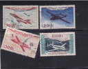 France Scott # C29-32 Used Air Mail Set Planes Catalogue $28.95 - Airmail
