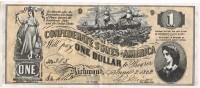 Billete Replicaof SPAIN,  1 Dolar 1862. Confederate States Of America - Valuta Della Confederazione (1861-1864)