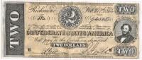 Billete Replica Of SPAIN,  2 Dolars 1864. Confederate States Of America - Divisa Confederada (1861-1864)