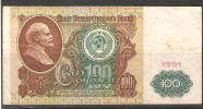 Russia/USSR 1991 ,100 Roubles ,Lenin ,VF Circulated - Russie