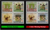 Pakistan (Summer Olympics 2000) Rs.4 (Sc # 954) Error/Variety: Color Missing In The Right One (Mint) Block Of =04= - Pakistan