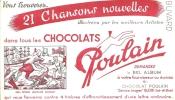 Buvard  Vous Trouverez 21 Chansons Nouvelles Dans Les Chocolats Poulain Bon Voyage Mr  Dumollet Blois - Chocolat