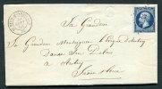 St OYEN-MONTBELLET 70 Saône Et Loire. Petits Chiffres 3224 / 14 + C. 15 + Boîte Rurale B Sur Lettre Pour Autun 1856 - Postmark Collection (Covers)