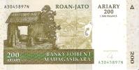 BILLETE DE MADAGASCAR DE 200 ARIARY DEL AÑO 2004 (BANKNOTE) - Madagaskar