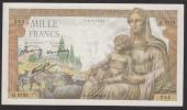 1000 Francs Déesse Déméter Type 1942 Du 20-5-1943 En SPL - Voir Descriptif - 1 000 F 1942-1943 ''Déesse Déméter''