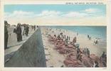 CPA SEAWALL AND BEACH - GALVESTON - TEXAS - Galveston