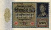 Banconota Germania 10.000 Marchi 19.01.1922 - [ 3] 1918-1933 : Weimar Republic