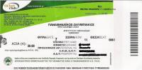 Panathinaikos-Olympiakos Football Greek Championship Match Ticket - Tickets D'entrée