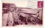 CPSM  St VALERY EN CAUX   ( S-Inf )  La Plage  Marcophilie  SES TENNIS MER ET BOIS 1933    Y5/4999 - Saint Valery En Caux