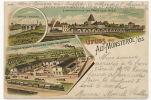 Alt Munsterol Montreux Vieux Litho Cognac Brandy Durr Delamarre  Gare Train  1901 - Other Municipalities