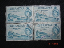Gibraltar 1954   Q.E II  Royal Visit   3p   SG159 Block Of 4  Used - Gibraltar