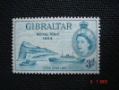Gibraltar 1954   Q.E II  Royal Visit   3p   SG159   MH - Gibraltar