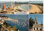 CP Locquirec Le Port L' Eglise Les Plages Multivues Multi Vues 29 Finistère - Locquirec
