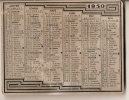 Calendrier De Poche /En Feuille D´aluminium/1950     CAL63 - Unclassified