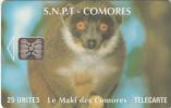 COMOROS ISL. - Maki, Chip SC5, CN : C49100925, Used - Comoros