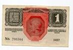 Autriche Hongrie Roumanie 1 Kronen 1916 AUNC-  Without Overprint RARE - Austria