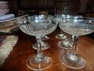 6 Coupes Cristal Taillé Ancien  St Louis? Baccarat? - Glas & Kristall