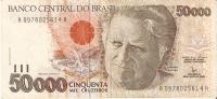BILLETE DE BRASIL DE 50000 CRUZEIROS  (BANK NOTE) - Brésil