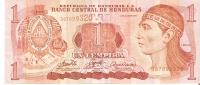 BILLETE DE HONDURAS DE 1 LEMPIRA AÑO 2006 (BANKNOTE) - Honduras