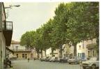 17402 - POMEROLS - LA PLACE DU JEU DE BALLON ( Animées + SINCA ARONDE + 4 CV RENAULT + 2 CV CITROEN) - Frankreich