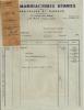 LE PUY ETS PERRICHON AUX MANUFACTURES REUNIES DENTELLES ET RIDEAUX  ENVOYE A LUNEL  AVIS DE DEBIT 1951 - France
