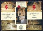 CPM MARSEILLE  Saint Victor De Marseille, Sur La Tombe Des Martyrs.... Multi Vues - Marseille