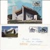 Lot 2 Docts 70 RONCHAMP HAUTE SAONE Eglise Church, Chappelle Notre Dame Du Haut : PAP Carte Maximum - Chiese E Cattedrali