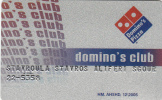 """GREECE - Domino""""s Pizza, Member Card, Exp.date 12/05, Used - Unclassified"""