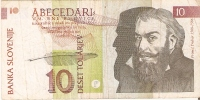 BILLETE DE ESLOVENIA DE 10 TOLARJEV DEL AÑO 1992   (BANKNOTE) - Eslovenia