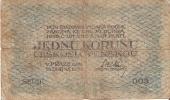 BILLETE DE CHECOSLOVAQUIA DE 1 KORUNA DEL AÑO 1919  (BANKNOTE) - Tchécoslovaquie