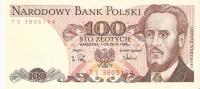 BILLETE DE POLONIA DE 100 ZLOTYCH DEL AÑO 1988 SIN CIRCULAR (BANKNOTE) - Polonia