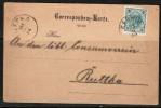 AUSTRIA    1900 COMMERCIAL POSTAL STATIONARY CARD Karwin To Ruttka CDS (25/9/1900) CANCEL - Briefe U. Dokumente