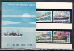 Papua New Guinea 1976 Ships Of The 30's Stamp Pack - Papouasie-Nouvelle-Guinée