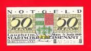 Laupheim, Baden-Württemberg, Notgeld, 50 Pfennig,  1919, Selten - [11] Emissions Locales