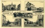 Halanzy - Souvenir D'... - Carte Multivues, Avec Gare, Grand'Place, Etc ... -1954 ( Voir Verso ) - Aubange