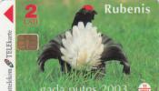 LATVIA - Black Grouse, Chip Siemens 35, Tirage 10000, Exp.date 11/04, Sample(no CN) - Latvia