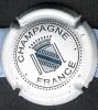 Capsule Champagne Fond Blanc Avec Blason, écriture Noire - Capsules & Plaques De Muselet