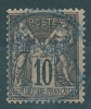 French Colonies Port Lagos 10c No 2 Used S0673