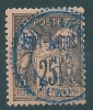 French Colonies Port Lagos 1p/25c No 4 Used S0675