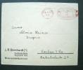 Brief Mit  AFS  - L.R. Bernhard Parfümerie-Fabrik Braunschweig - Affrancature Meccaniche Rosse (EMA)