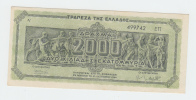 GREECE 2000 DRACHMAI 1944 AUNC P 133b 133 B - Grèce