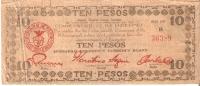 BILLETE DE FILIPINAS DE 10 PESOS DEL AÑO 1943 (RARO)  (BANKNOTE-BANK NOTE) - Filipinas