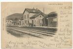 St Maurice Sur Moselle La Gare Phot Notter Le Thillot Timbrée 1903 - France