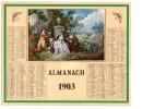 CALENDRIER ALMANACH 1903 - Calendari