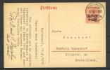 Rumänien 1917: BUKAREST, Postkarte P3 - Besetzungen 1914-18