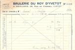"""76 YVETOT 1950 BRULERIE A DEVILLERS RUE DU CHATEAU LEGEREMENT """"FRIPEE"""" - Altri"""