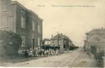 Housse - Maison Communale Et Ecole Des Garçons -Top Carte- Cachet Et Timbre Allemand ( Voir Verso ) - Blegny