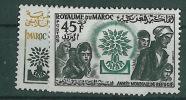 1960-Marokko-Mi 451-452 (**) - Maroc (1956-...)