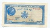 "Roumanie Romania Rumänien 5000 Lei "" 28 SEPTEMBRIE 1943 "" XF - Roumanie"